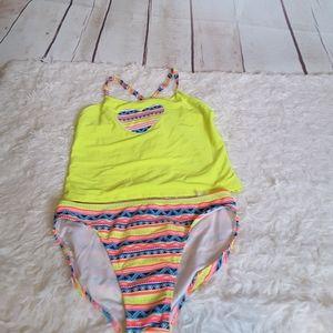 3/$30 OP tankini set tribal print heart swimwear